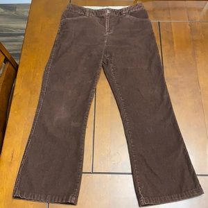 The North Face brown corduroy pants size 6